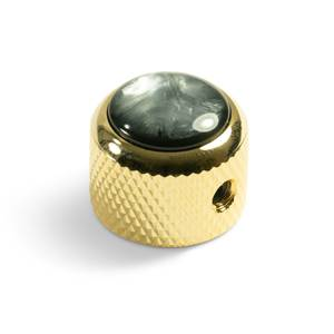 Bilde av Dome knob - gull - black pearl