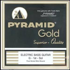 Bilde av Pyramid Gold Flatwound - long scale bass H streng